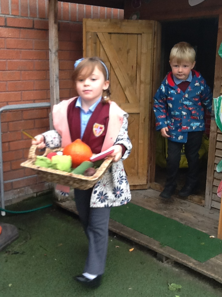 Fun in our 'Farmer's Market' role-play.