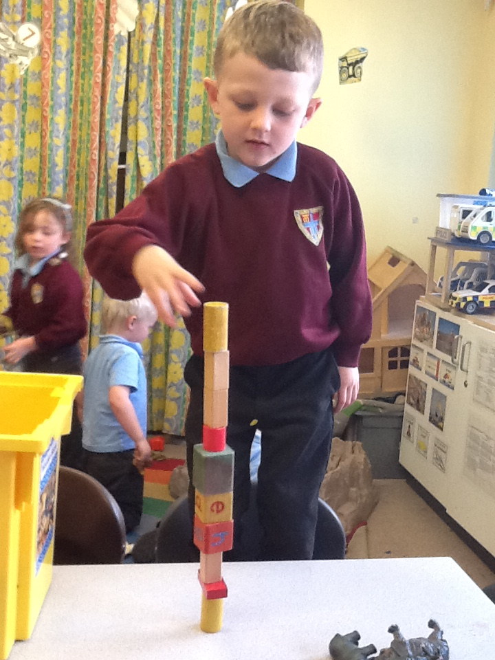 Seeing how many blocks we could use to build a tower before it falls down.