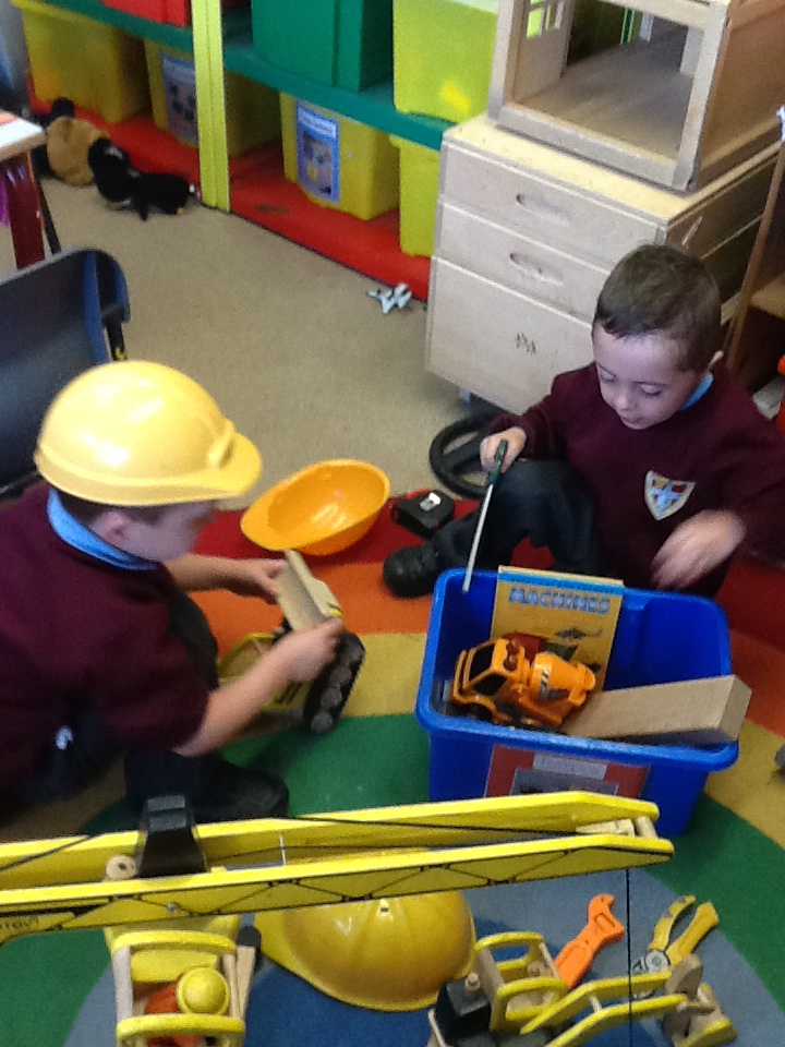 Fun in our construction area.